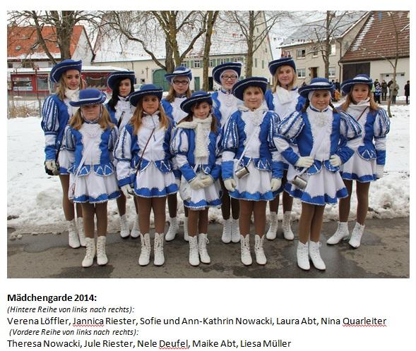 Mädchengarde  2014